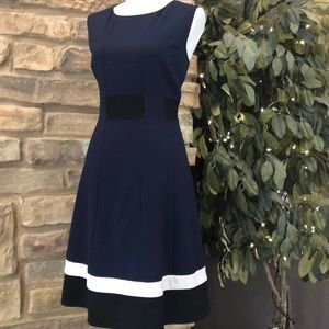 Calvin Klein Fit And Flare Dress color block 12